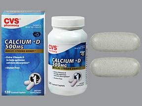 calcium carbonate 500 mg (1,250 mg)-vitamin D3 400 unit tablet