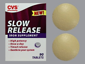 Slow Release Iron 143 mg (45 mg iron) tablet,extended release