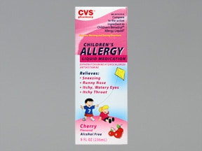 Allergy (diphenhydramine) 12.5 mg/5 mL oral liquid