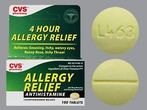 Allergy Relief (chlorpheniramine) 4 mg tablet