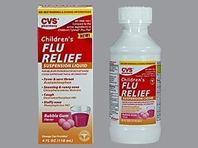 Children's Flu Relief 1 mg-2.5 mg-5 mg-160 mg/5 mL oral suspension
