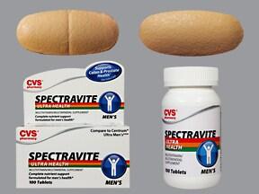 Spectravite Men's 8 mg iron-200 mcg-600 mcg tablet