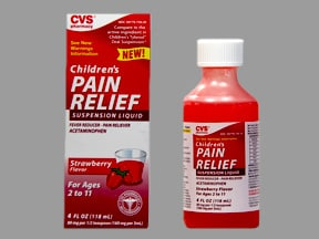 Children's Pain Relief 160 mg/5 mL oral suspension