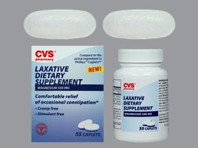 Laxative Dietary Supplement 500 mg tablet