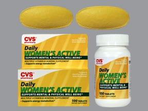 Women's Active 18 mg iron-400 mcg-180 mg tablet