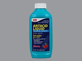 Antacid Maximum Strength 400 mg-400 mg-40 mg/5 mL oral suspension