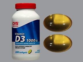 cholecalciferol (vitamin D3) 1,000 unit capsule