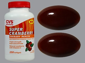 Super Cranberry 140 mg-100 mg capsule