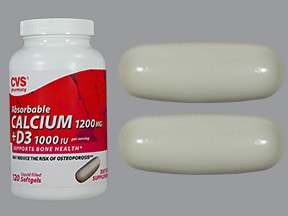 calcium carbonate-vitamin D3 600 mg (1,500 mg)-500 unit capsule