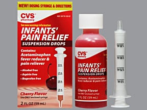 Infants' Pain Relief 160 mg/5 mL oral suspension