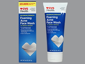 Foaming Acne Face Wash 10 % topical cleanser