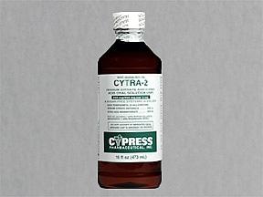 Cytra-2 500 mg-334 mg/5 mL oral solution