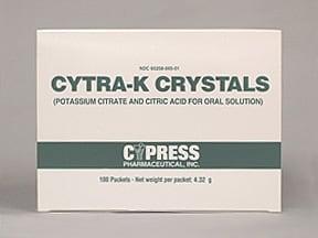 Cytra K Crystals 3,300 mg-1,002 mg oral packet