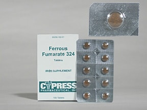 ferrous fumarate 324 mg (106 mg iron) tablet