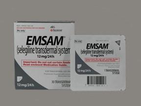 Emsam 12 mg/24 hr transdermal 24 hour patch