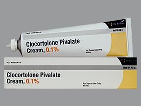 clocortolone pivalate 0.1 % topical cream