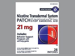 nicotine 21 mg/24 hr daily transdermal patch