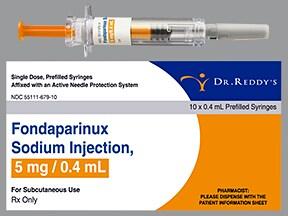 fondaparinux 5 mg/0.4 mL subcutaneous solution syringe