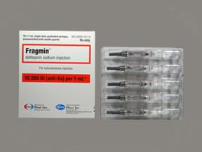 Fragmin 10,000 anti-Xa unit/mL subcutaneous syringe