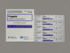 Fragmin 15,000 anti-Xa unit/0.6 mL subcutaneous syringe