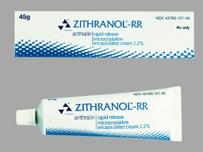 Zithranol-RR 1.2 % topical cream rapid release