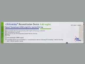 Saizen click.easy 8.8 mg/1.5 mL (Final Conc.) subcutaneous cartridge