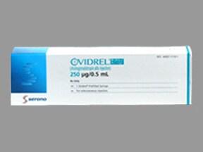 Ovidrel 250 mcg/0.5 mL subcutaneous syringe