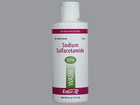 sulfacetamide sodium 10 % topical cleanser