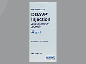 DDAVP 4 mcg/mL injection solution