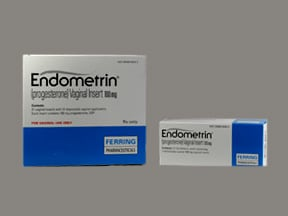 Endometrin 100 mg vaginal inserts