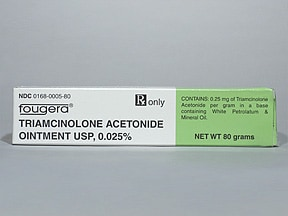 triamcinolone acetonide 0.025 % topical ointment