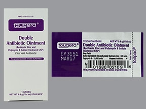 bacitracin-polymyxin B 500 unit-10,000 unit/gram topical packet