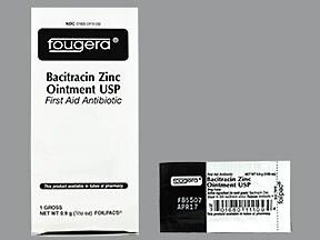 bacitracin zinc 500 unit/gram topical packet
