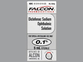 diclofenac 0.1 % eye drops