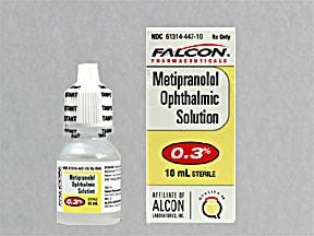 metipranolol 0.3 % eye drops