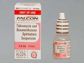blurred ophthalmic and vision dexamethasone tobramycin suspension