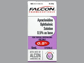 apraclonidine 0.5 % eye drops