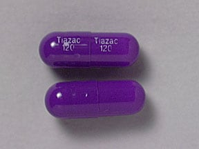 Tiazac 120 mg capsule,extended release