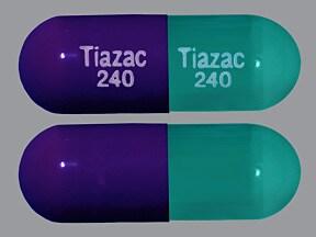 Tiazac 240 mg capsule,extended release