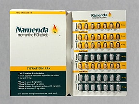 Namenda Titration Pak 5 mg-10 mg tablets in a dose pack
