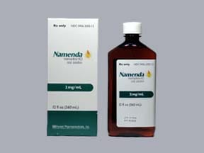 Namenda 2 mg/mL oral solution
