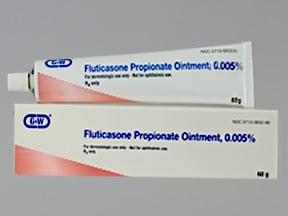 fluticasone 0.005 % topical ointment