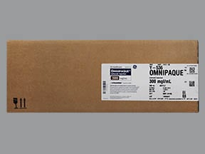 Omnipaque 300 300 mg iodine/mL intravenous solution
