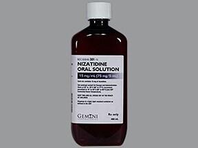 nizatidine 150 mg/10 mL oral solution