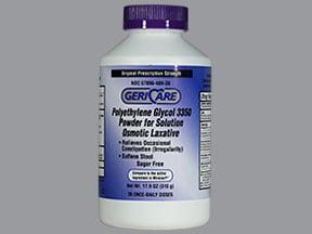 polyethylene glycol 3350 17 gram/dose oral powder