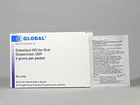 colestipol 5 gram oral packet