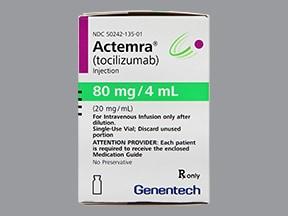 Actemra 80 mg/4 mL (20 mg/mL) intravenous solution