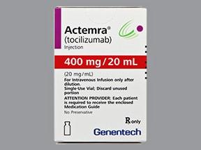 Actemra 400 mg/20 mL (20 mg/mL) intravenous solution