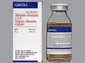 albumin, human 25 % intravenous solution