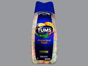 Tums E-X 300 mg (750 mg) chewable tablet